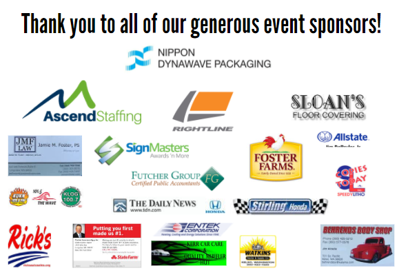 Thank You event sponsors